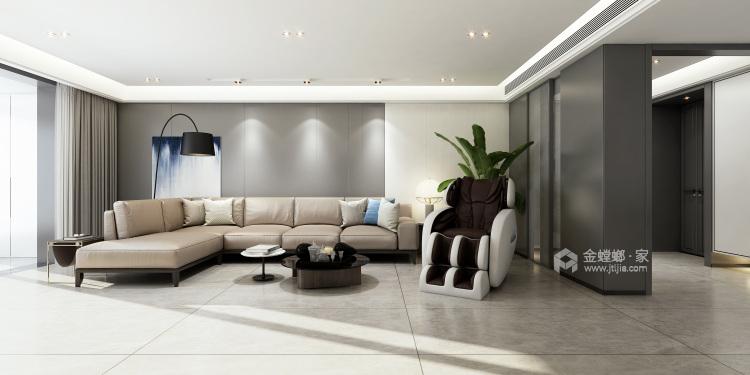 236平倚翠尚府现代风格-客厅效果图及设计说明