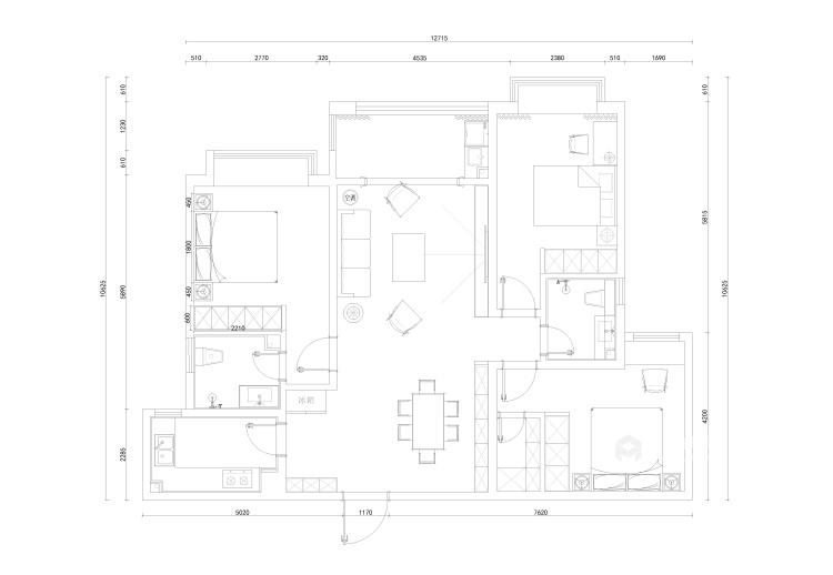 123平海河湾现代风格-平面设计图及设计说明
