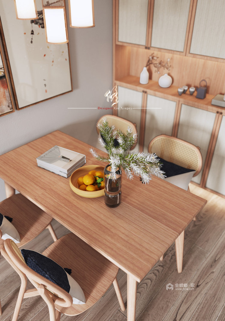 120平陽光公寓日式風格-餐廳效果圖及設計說明