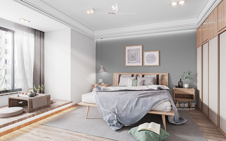 120平陽光公寓日式風格-臥室效果圖及設計說明