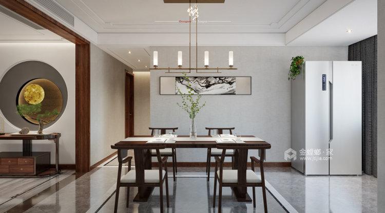 140平中治锦绣华府新中式风格四居-餐厅效果图及设计说明