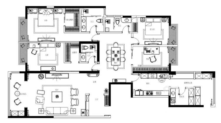 236平倚翠尚府现代风格-平面设计图及设计说明
