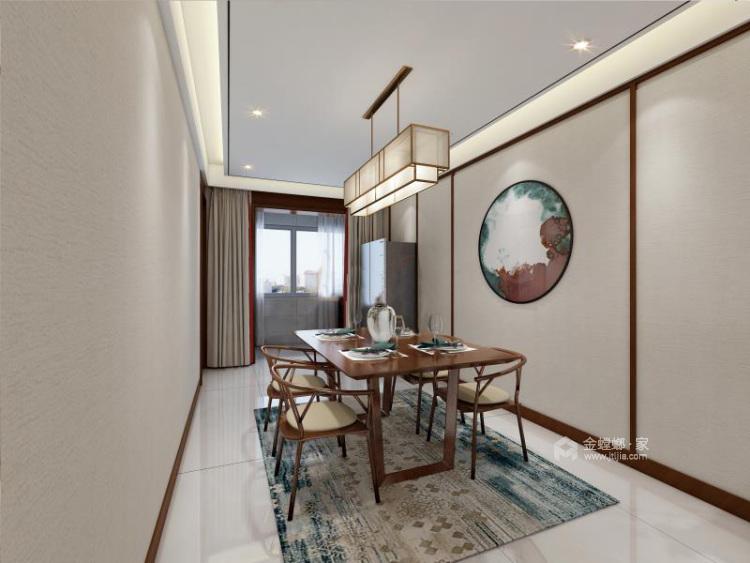 130平唐延九郡新中式风格-餐厅效果图及设计说明