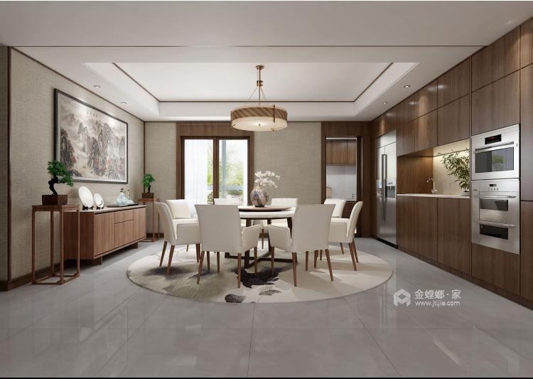 178平唐延九郡新中式风格-餐厅效果图及设计说明