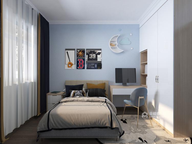 123平海河湾现代风格-卧室效果图及设计说明