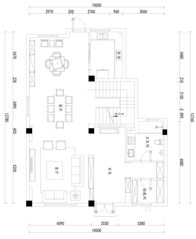 260平世纪天城新中式风格别墅-平面设计图及设计说明