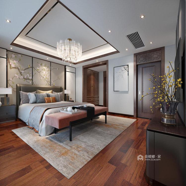 260平世纪天城新中式风格别墅-卧室效果图及设计说明