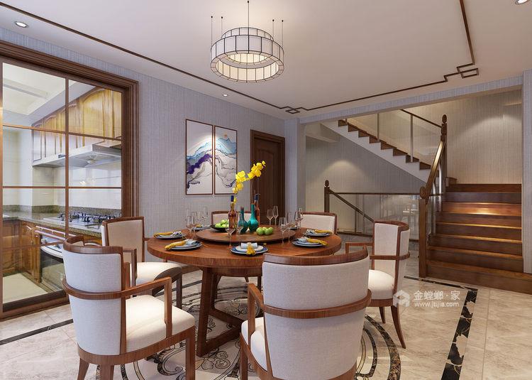 400平康力家园新中式风格-餐厅效果图及设计说明