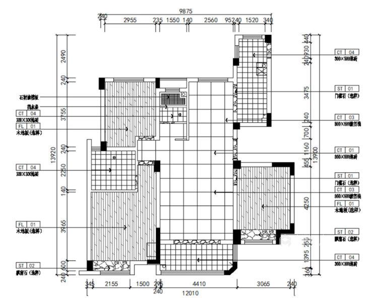 130平明发香山郡现代风格三居-平面设计图及设计说明