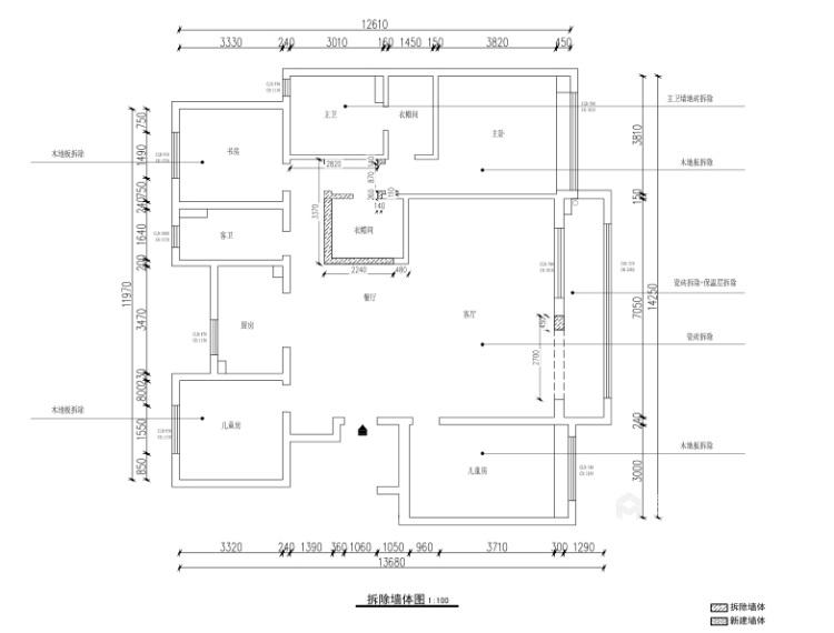 170平富力盛悦府简美风格-平面设计图及设计说明
