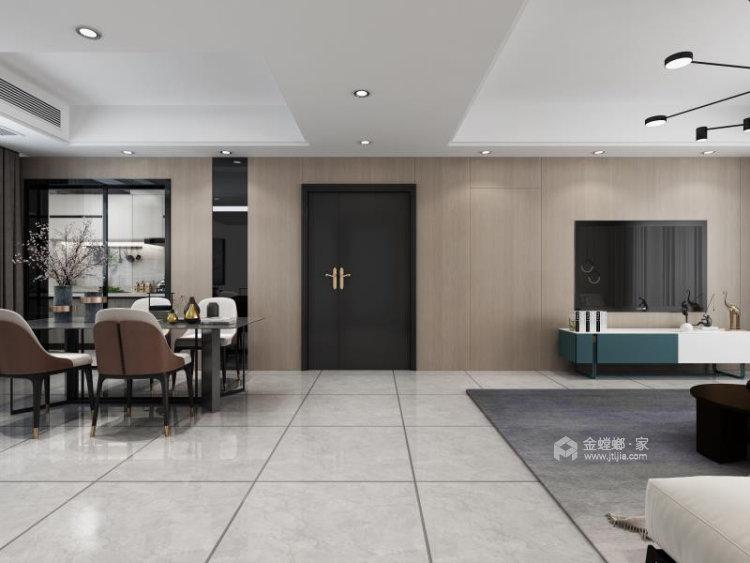 130平明发香山郡现代风格三居-餐厅效果图及设计说明