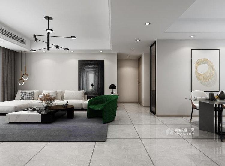 130平明发香山郡现代风格三居-客厅效果图及设计说明