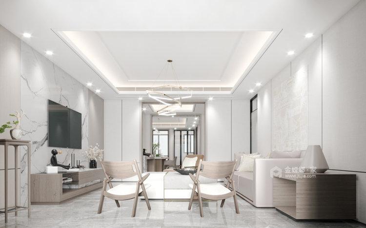180平金鼎湾状元府现代风格四居-客厅效果图及设计说明