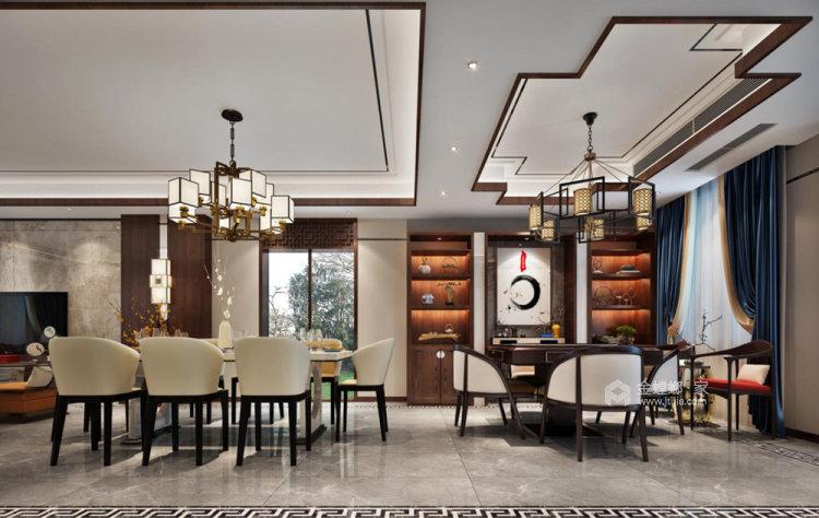 260平世纪天城新中式风格别墅-餐厅效果图及设计说明