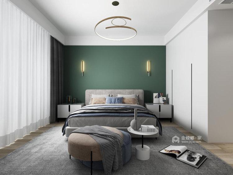 130平仙龙湾山庄现代风格四居-卧室效果图及设计说明