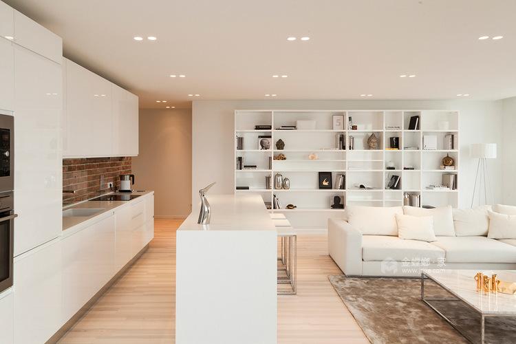 89平雍华府北欧风格-充满摩登感-餐厅效果图及设计说明