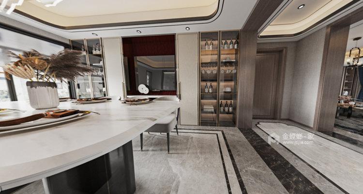 180平世茂外滩新城新中式风格四居-餐厅效果图及设计说明