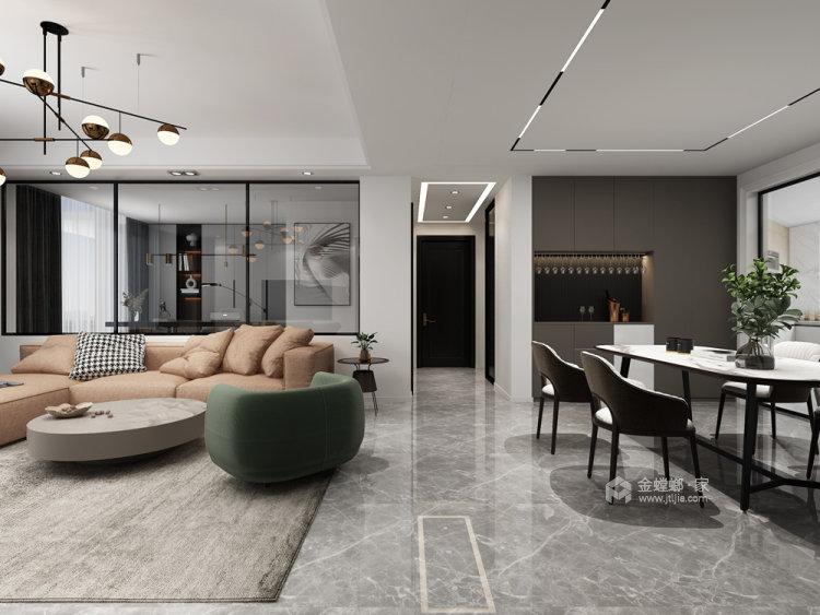 130平仙龙湾山庄现代风格四居-餐厅效果图及设计说明