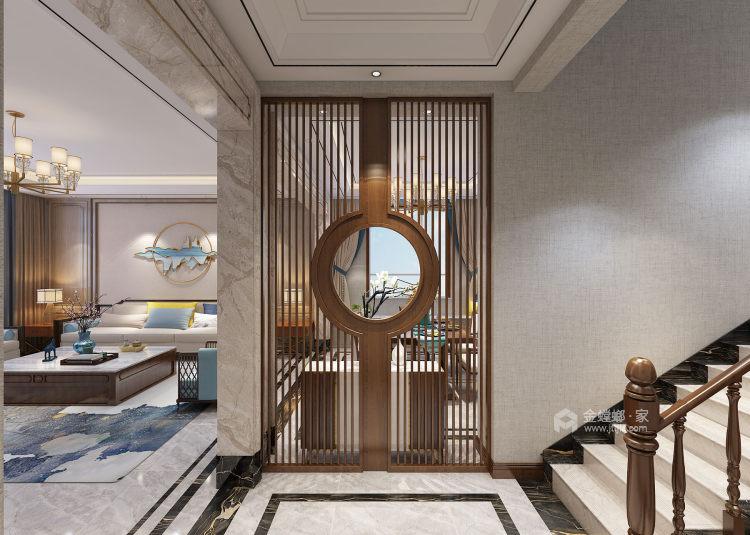 360平水城庄园新中式风格-餐厅效果图及设计说明