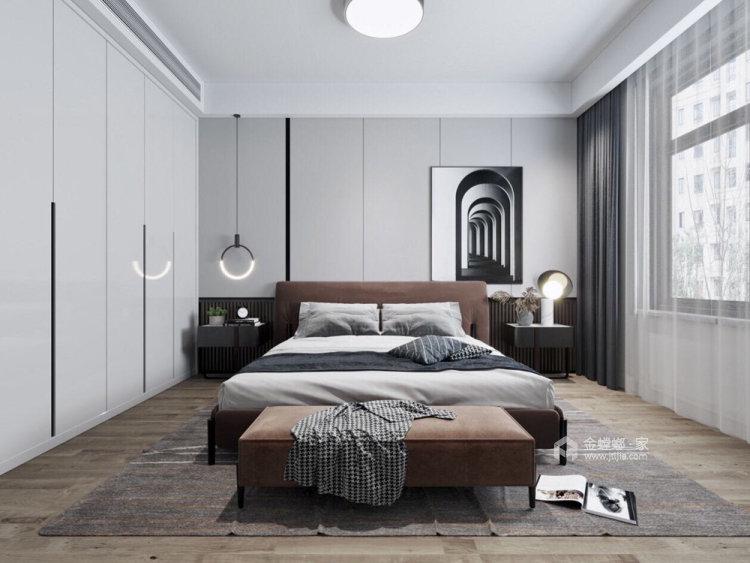 130平明发香山郡现代风格三居-卧室效果图及设计说明