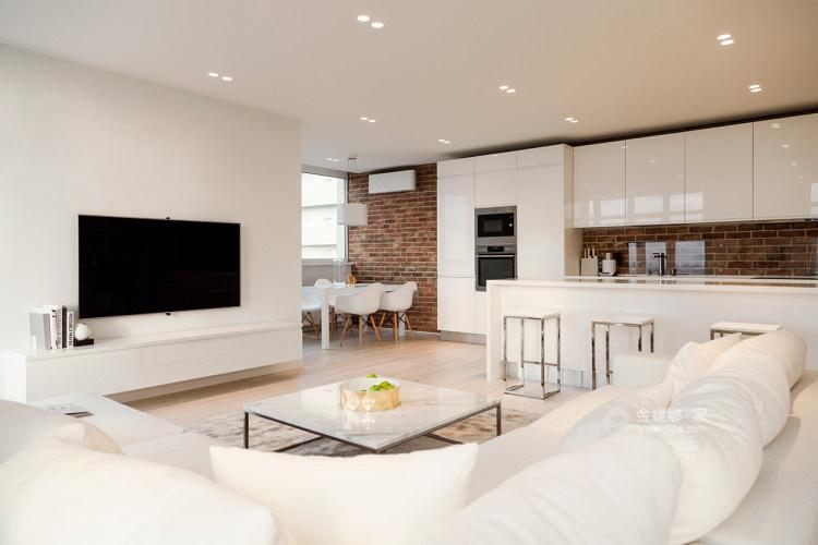 89平雍华府北欧风格-充满摩登感-客厅效果图及设计说明
