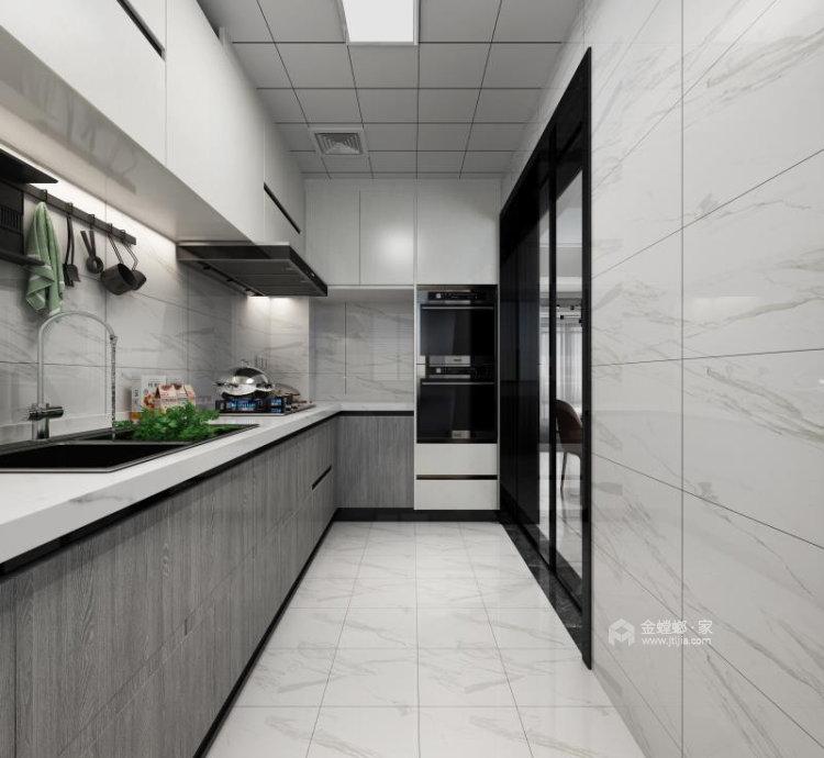 130平明发香山郡现代风格三居-厨房