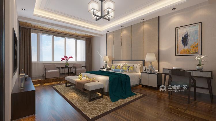 400平康力家园新中式风格-卧室效果图及设计说明