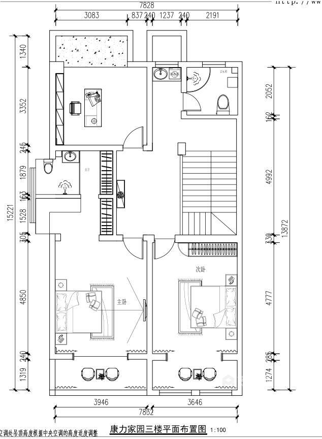 400平康力家园新中式风格-平面设计图及设计说明