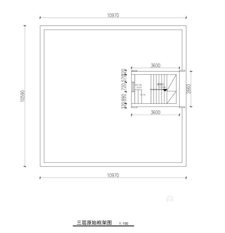 300平白金瀚宫美式风格-业主需求&原始结构图