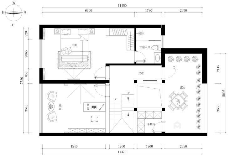 380平春秋意墅新中式风格-别墅,演绎东方极致美学!-平面设计图及设计说明