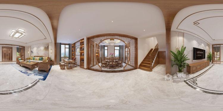 300平白金瀚宫中式风格-餐厅效果图及设计说明