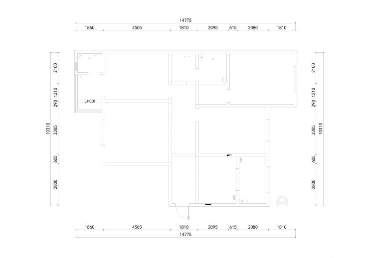143平团结园简欧风格-业主需求&原始结构图