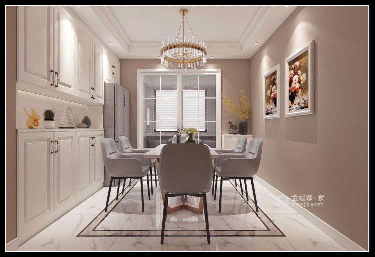 143平团结园简欧风格-餐厅效果图及设计说明