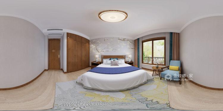 300平白金瀚宫中式风格-卧室效果图及设计说明