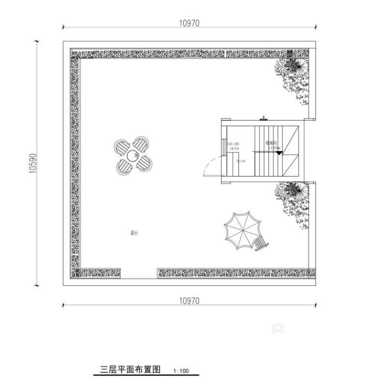 300平白金瀚宫美式风格-平面设计图及设计说明