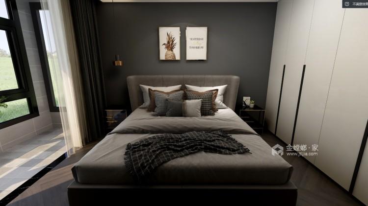 125平东岭国际现代风格-卧室效果图及设计说明