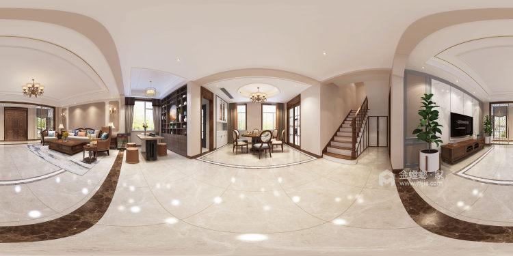 300平白金瀚宫美式风格-餐厅效果图及设计说明