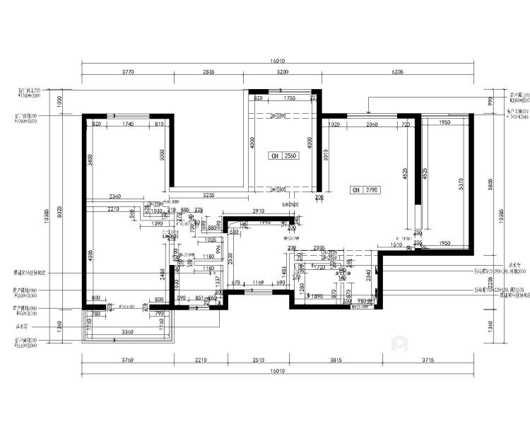125平东岭国际现代风格-业主需求&原始结构图