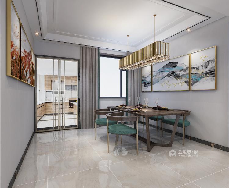 130平锦绣新城新中式风格-餐厅效果图及设计说明