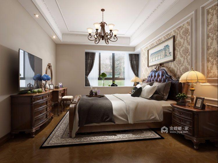 170平清河雅苑美式风格四居-卧室效果图及设计说明
