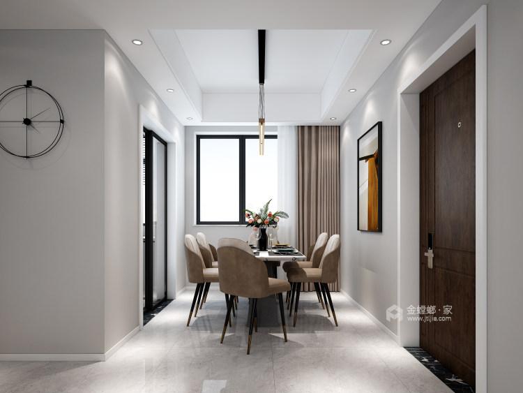 116平禹州嘉荟星岛现代风格-纯粹高级内敛-餐厅效果图及设计说明