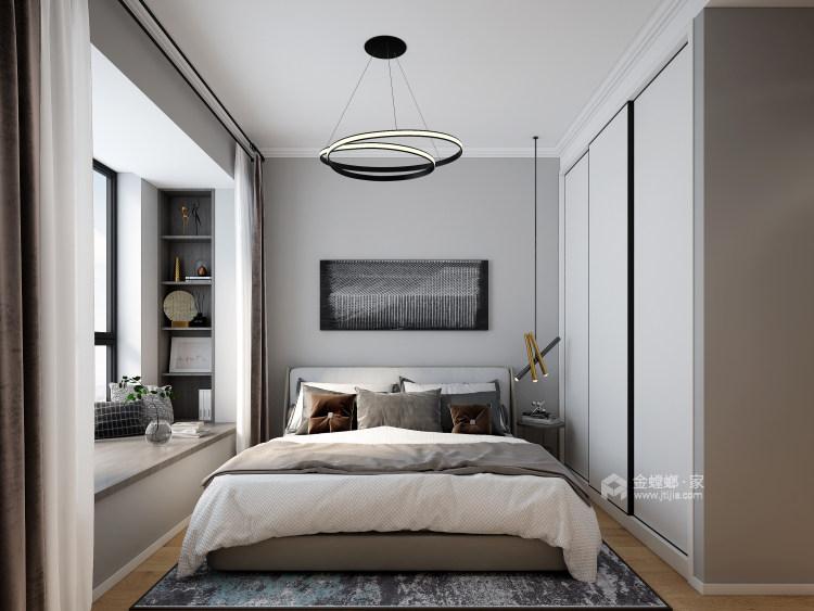 116平禹州嘉荟星岛现代风格-纯粹高级内敛-卧室效果图及设计说明