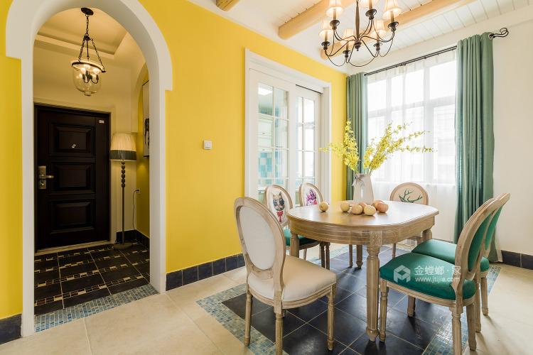 158平人文嘉园地中海风格-宁静闲适,自然安详-餐厅效果图及设计说明