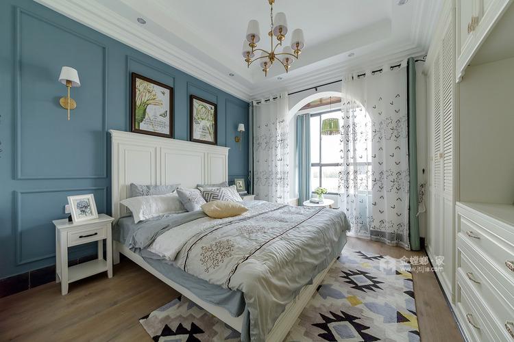 158平人文嘉园地中海风格-宁静闲适,自然安详-卧室效果图及设计说明