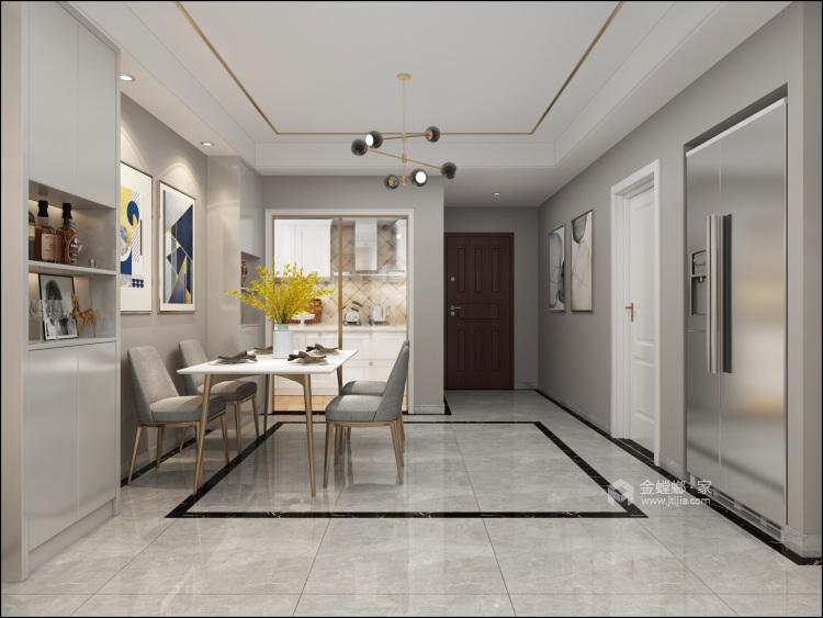 105平远大汇港小区现代风格-餐厅效果图及设计说明