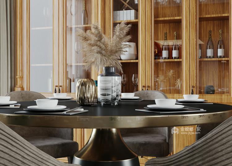 172平吉祥府邸美式风格-餐厅效果图及设计说明