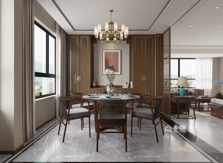 180平麓山霖语新中式风格-餐厅效果图及设计说明