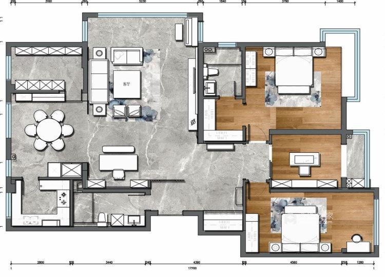 180平麓山霖语新中式风格-平面设计图及设计说明