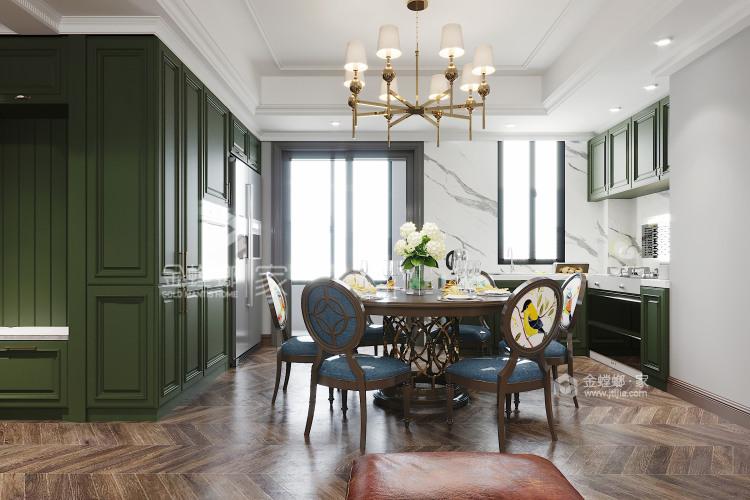 120平万达华府美式风格-餐厅效果图及设计说明