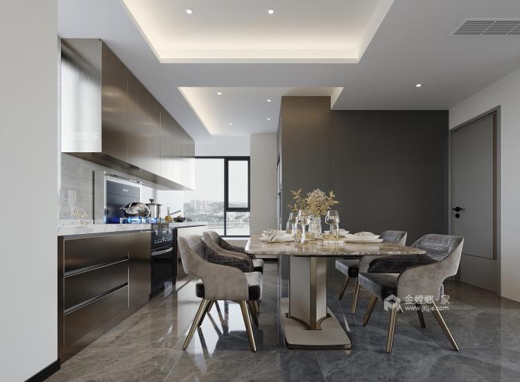 134平城投广场现代风格-餐厅效果图及设计说明